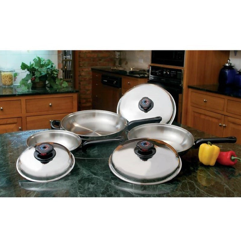Precise Heat™ 6pc 12-Element T304 Stainless Steel Skillet Set KTFP3