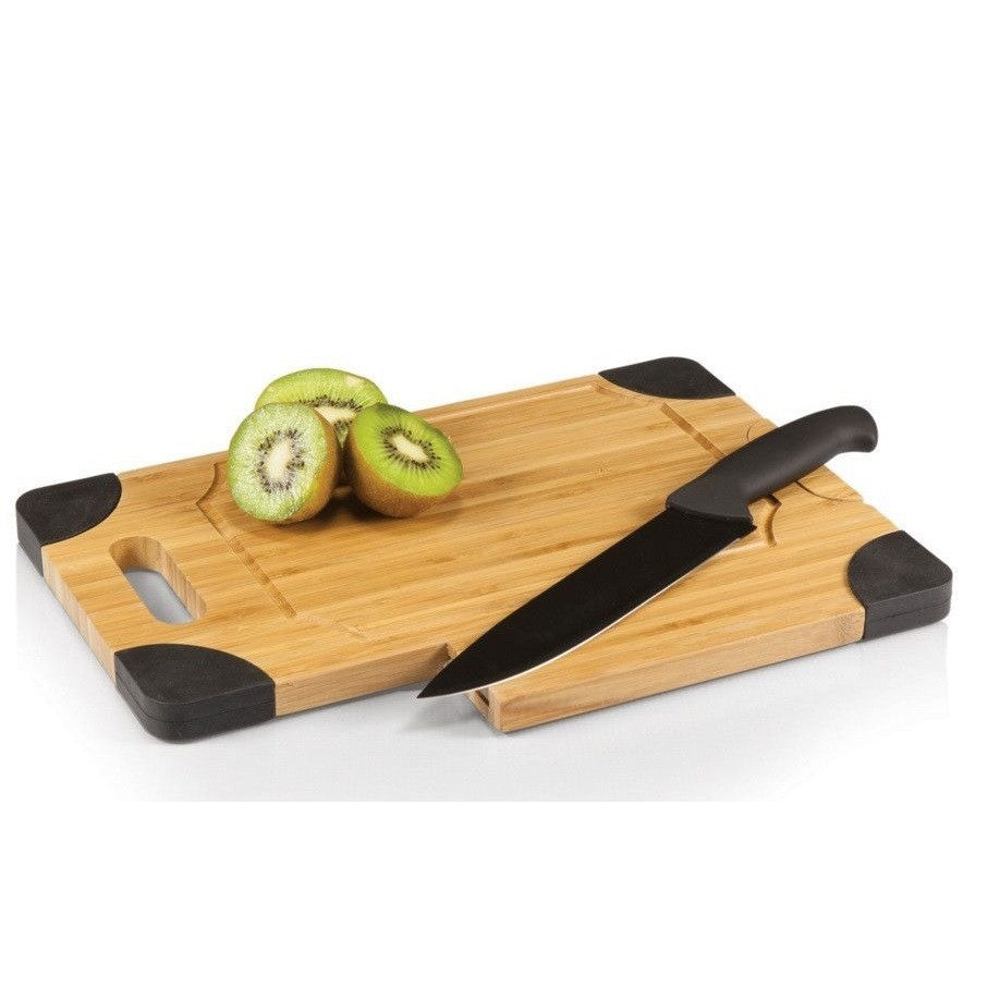 Picnic Time Culina Cutting Board Black 917-00 , Home & Garden > Kitchen & Dining > Kitchen Tools & Utensils > Cutting Boards - Picnic Time, Ruby Skies At Night - 1