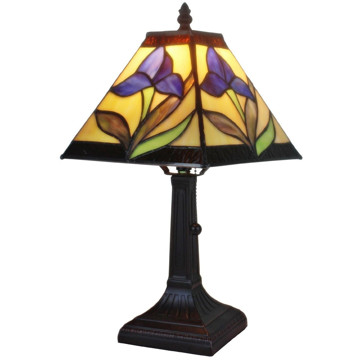 Purple lamp purple lamp with an oldworld style distressing wire table lamp purple lighting tagged geotapseo Gallery