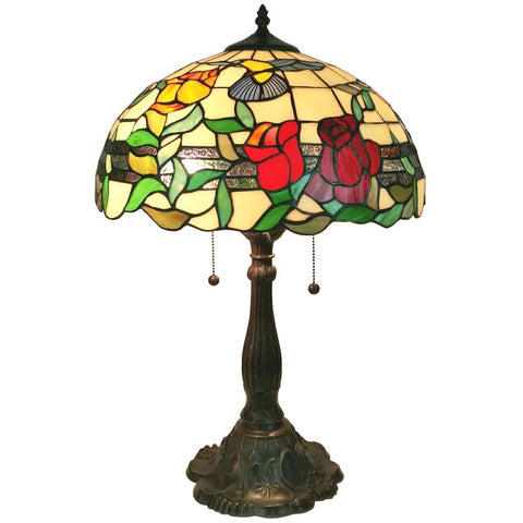 Amora Lighting Tiffany Style AM234TL16 Floral Table Lamp 24""