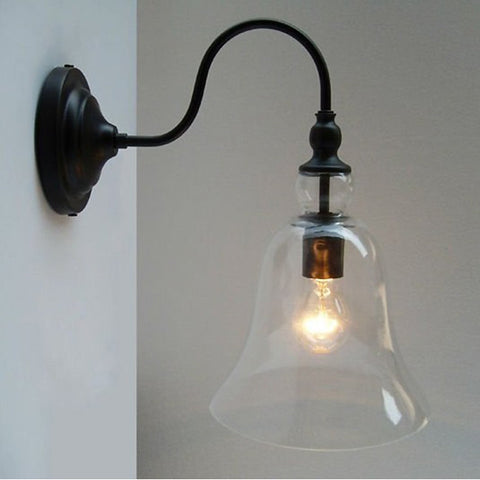 Warehouse of Tiffany LD5008 Clear Glass Edison Wall Lamp with Bulb