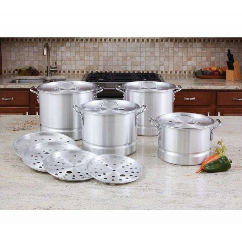 LaCusine™ 12pc Aluminum Steamer Stockpot Set KTAL12