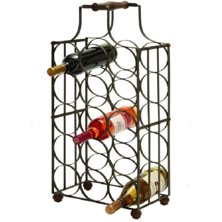 Benzara 63341 Sheet Metal Wine Rack Bottle Holder