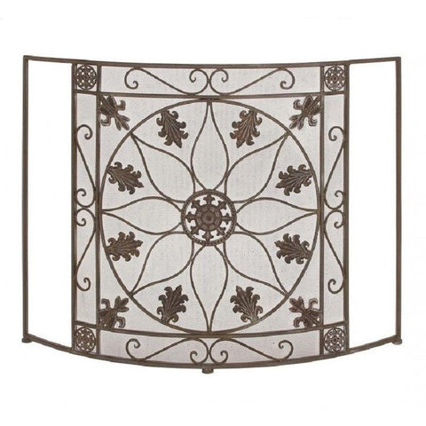 Benzara 28950 Protective Metal Fire Screen