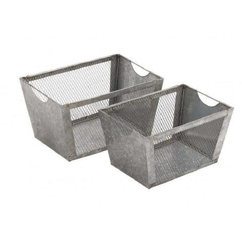 Benzara 49157 Artistic Styled Multipurpose Metal Wire Baskets