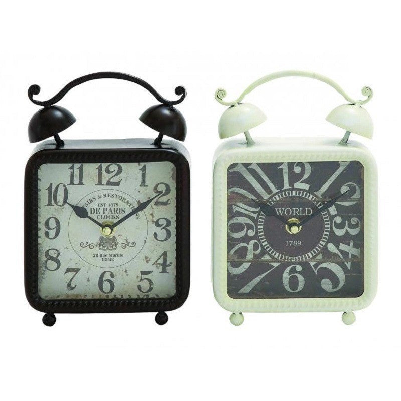 Benzara Inc 92208 Pair of Lexington's Metal Desk Clock