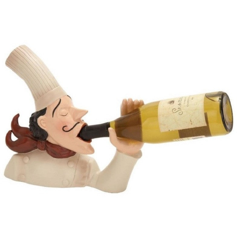 Benzara 69395 Fat Chef Polystone Chef Wine Holder