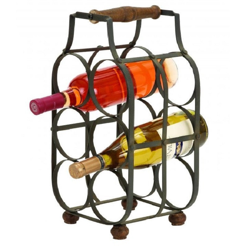Benzara 63342 Sheet Metal Wine Holder