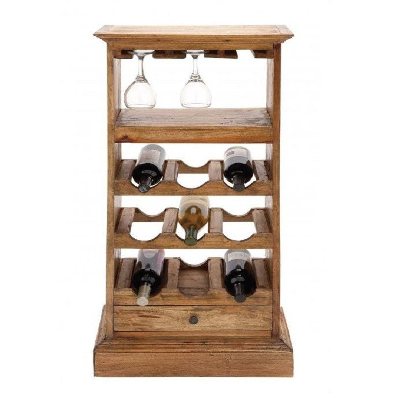 "Benzara 38345 Sleek Wood Wine Rack 44"" H"