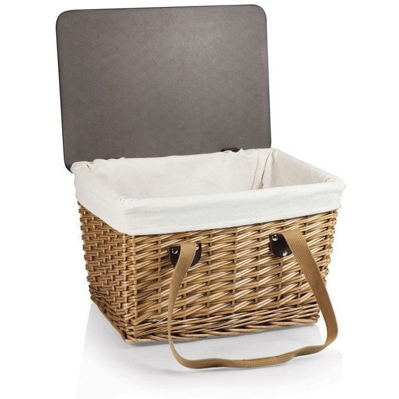 Picnic Time Canata Picnic Basket 118-00-190 , Home & Garden > Kitchen & Dining > Food & Beverage Carriers > Picnic Baskets - Picnic Time, Ruby Skies At Night - 1