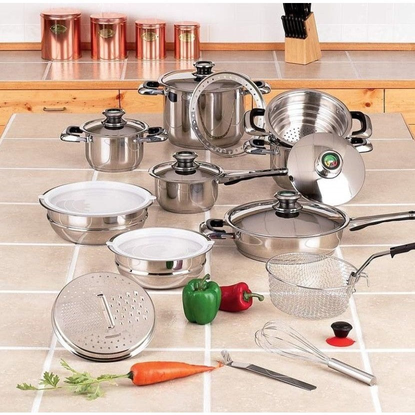 Chefs Secret® 22pc 12-Element Super Set with High-Quality Stainless Steel KTSS22