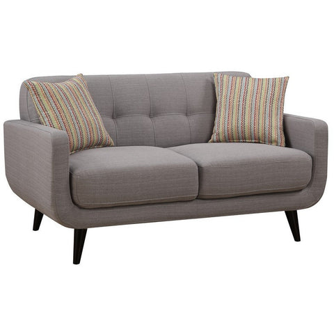 Ac Pacific Crystal Gray Mid-Century Love Seat