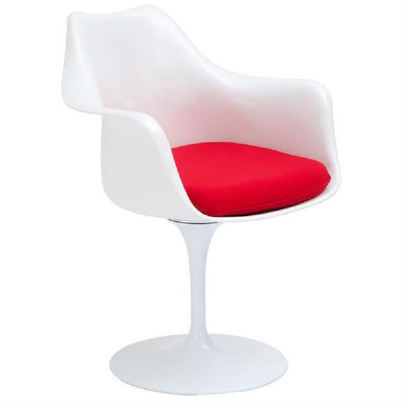 EdgeMod EM-152-RED Daisy Arm Chair in Red