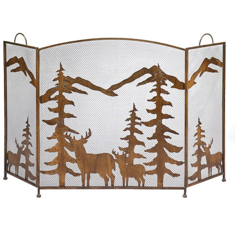 Koehler 12295 Rustic Forest Fireplace Screen , Home & Garden > Fireplace & Wood Stove Accessories - Koehler, Ruby Skies At Night