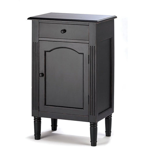 Koehler Antiqued Black Wood Cabinet 39092