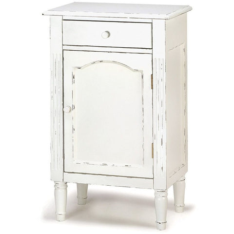 Koehler 39093 Antiqued Distressed White Wood Cabinet