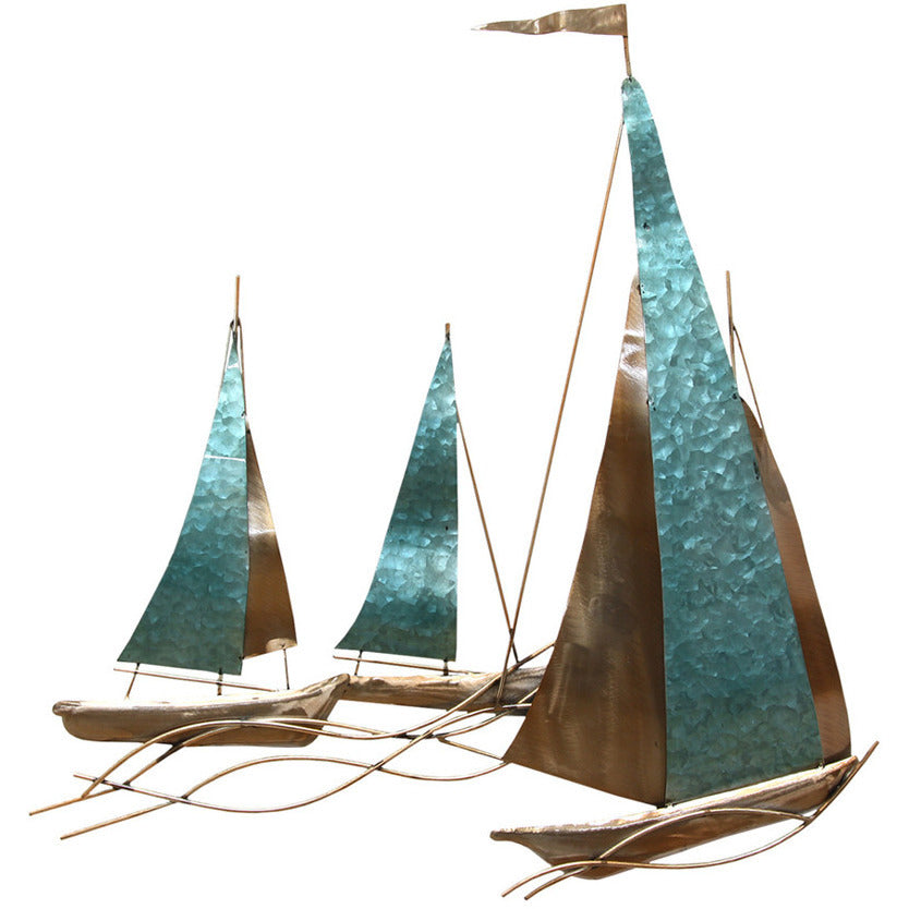 Stratton Home Decor Nautical Sailboat Metal Wall Art SHD0103