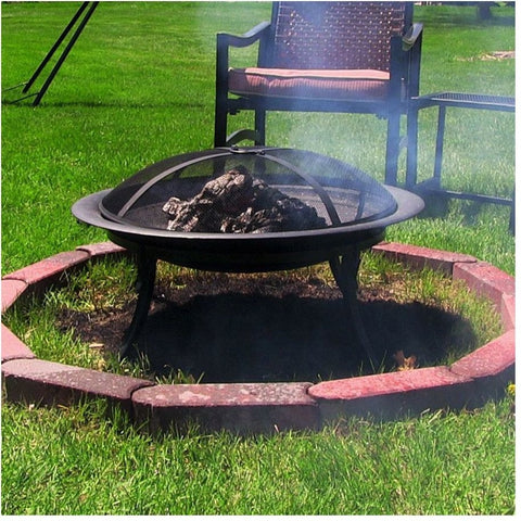 Sunnydaze CGO101 Portable Camping Fire Pit with Carrying Case , Home & Garden > Fireplaces - Sunnydaze, Ruby Skies At Night