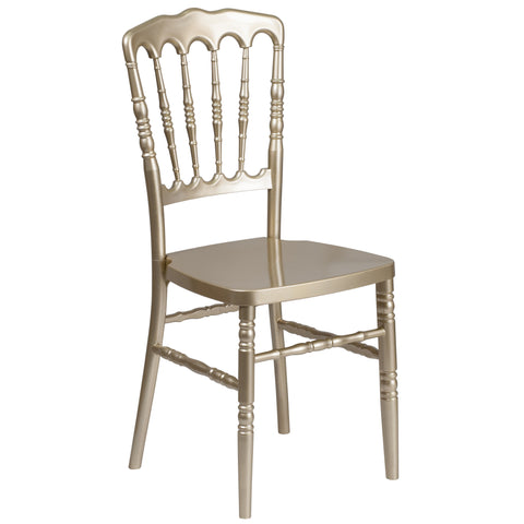 Flash Furniture Gold Resin Stacking Napoleon Chair Gold LE-L-8-GD-GG