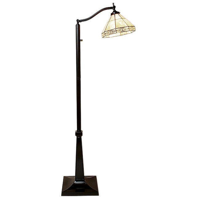 Warehouse of Tiffany Style Mission Floor Reading Lamp