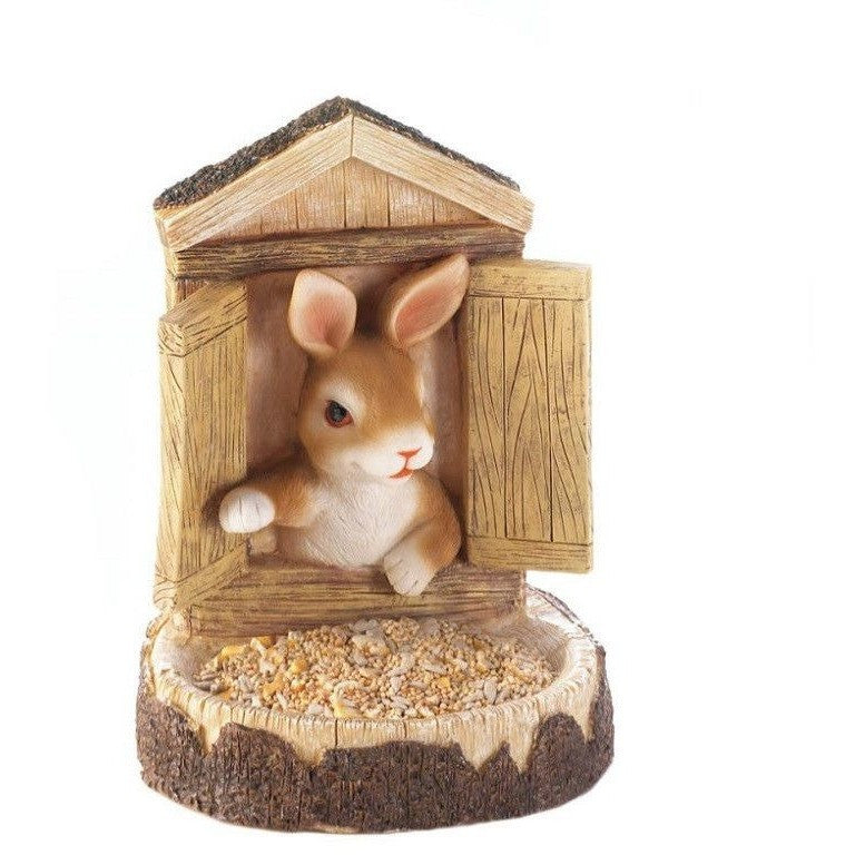 Outdoor Bunny Wall Hanging Bird Feeder