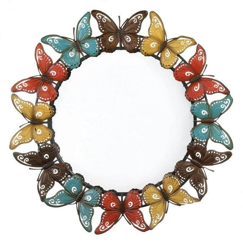 "Koehler 10017274 Colorful Butterfly Wall Mirror 36""D , Home & Garden > Decor > Mirrors - Koehler, Ruby Skies At Night - 1"
