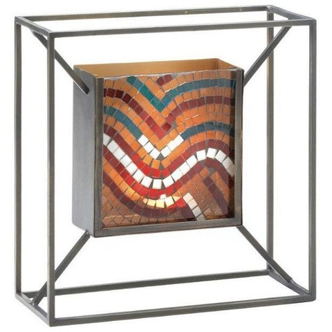 Mosaic Waves Of Multi Color Wall Sconce 10017594