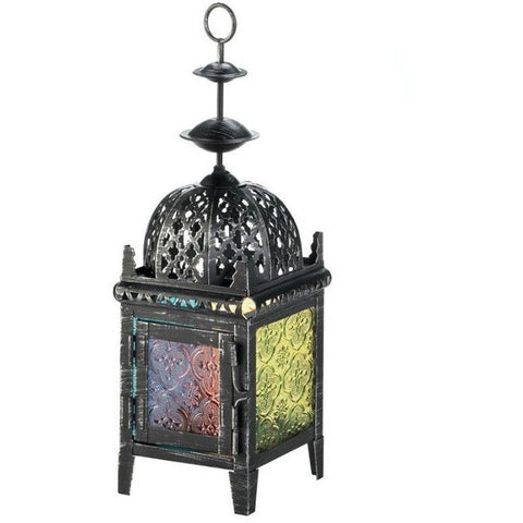 Multi-Color Medallion Candle Lantern 10017759
