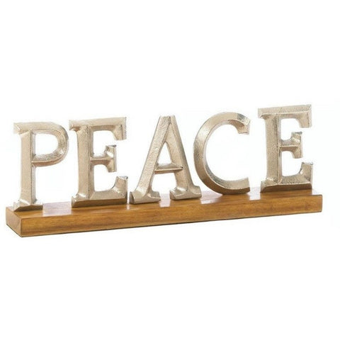 Peace Block Letter Decor Stand 10017620