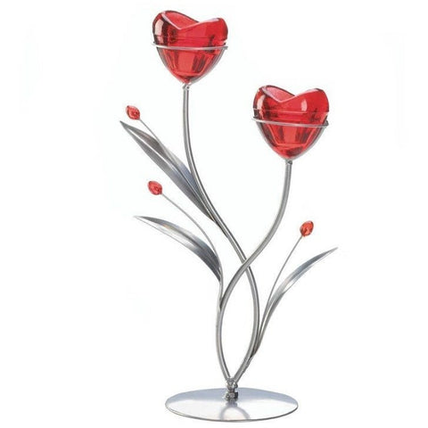 Two Hearts In Bloom Candle Holder 10017745