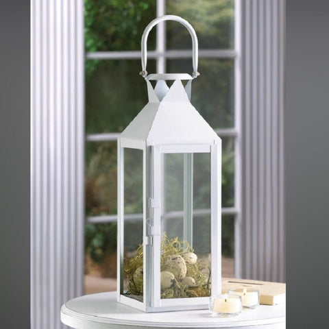 Koehler 10015429 White Manhatten Candle Lantern