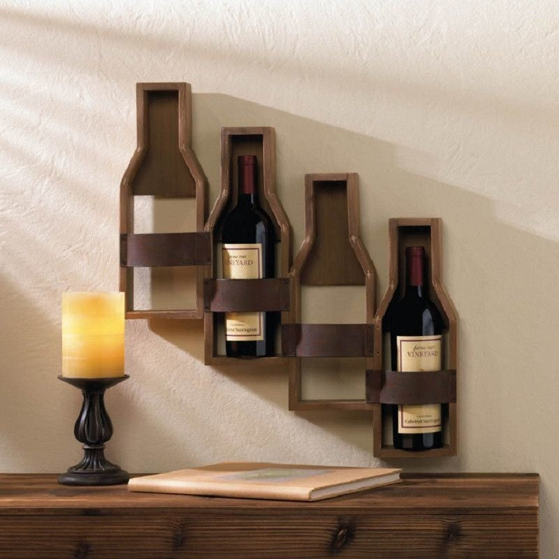 Rustic Winery Wall Wine Rack 10017096 , Furniture > Cabinets & Storage > Wine Racks - Koehler, Ruby Skies At Night - 1
