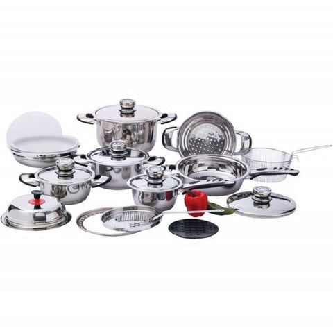 Chef's Secret® 22pc 12-Element HD Stainless Steel Cookware Set KT22