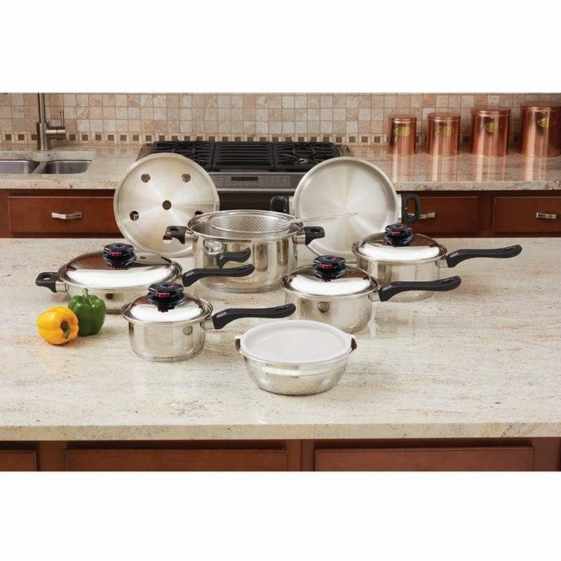 Chef's Secret® 15pc 12-Element T304 Stainless Steel Cookware KT915