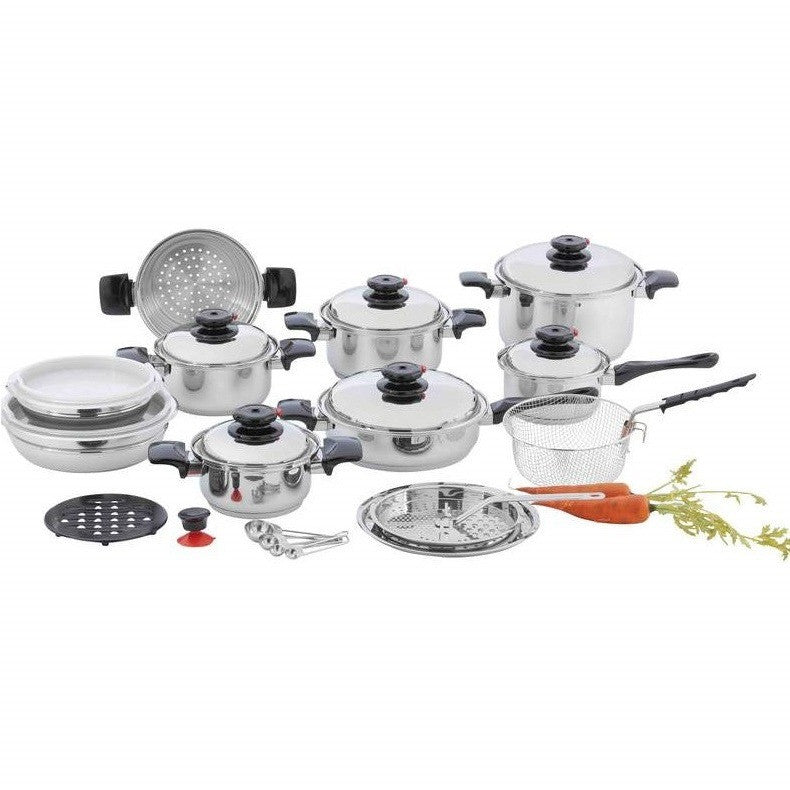 Chef's Secret® 28pc 12-Element T304 Stainless Steel Cookware KT928