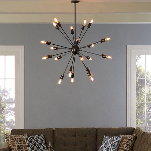 Modway Furniture Beam Stainless Steel Chandelier Black EEI-1562