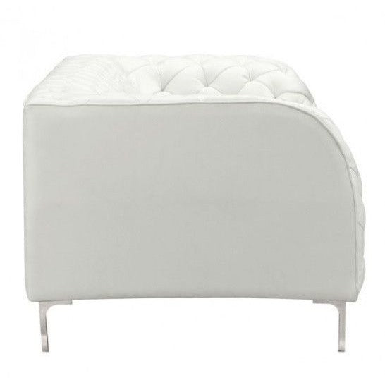Zuo Modern 900275 Providence Leatherette Sofa Couch White
