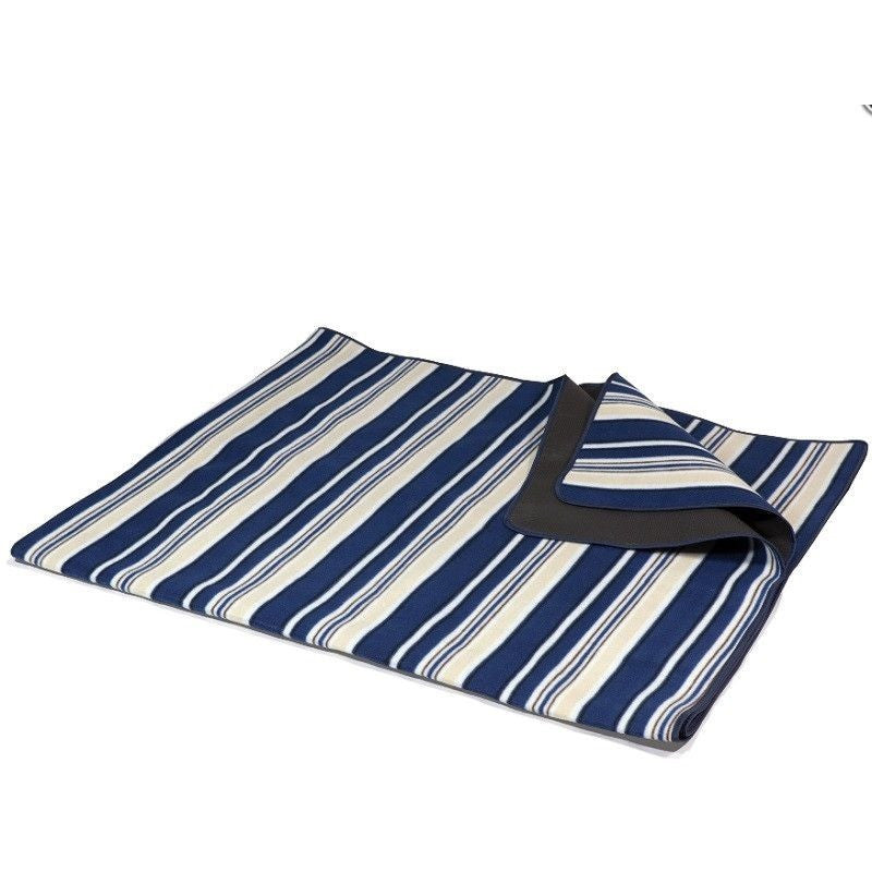 Picnic Time Blanket Tote XL Blue Stripes/Navy 920-00-107 , Home & Garden > Lawn & Garden > Outdoor Living > Outdoor Blankets - Picnic Time, Ruby Skies At Night - 1