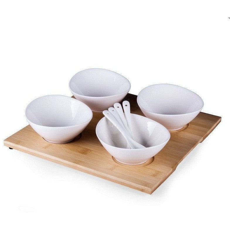 Picnic Time Quad Condiment Serving Tray Set 951-09-505 , Home & Garden > Kitchen & Dining > Tableware > Serveware > Serving Trays - Picnic Time, Ruby Skies At Night - 1