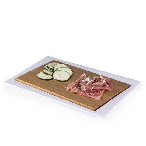 Picnic Time Enigma Offset Cutting Board and Serving Tray 954-02-505 , Home & Garden > Kitchen & Dining > Kitchen Tools & Utensils > Cutting Boards - Picnic Time, Ruby Skies At Night - 1