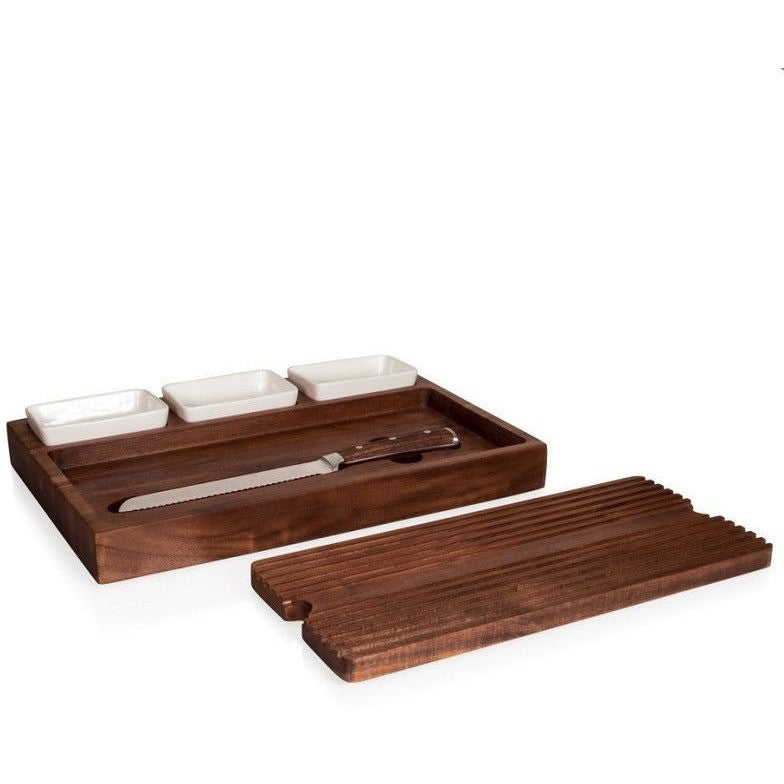 Picnic Time Bruschetta Bread Board 960-00-506 , Home & Garden > Kitchen & Dining > Tableware > Serveware > Serving Trays - Picnic Time, Ruby Skies At Night