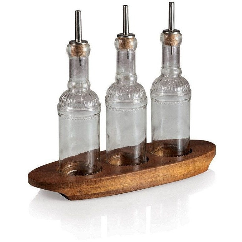 Picnic Time Oliera Glass Bottle Set by Fabio Viviani 963-00-506 , Home & Garden > Kitchen & Dining > Kitchen Tools & Utensils > Oil & Vinegar Dispensers - Picnic Time, Ruby Skies At Night