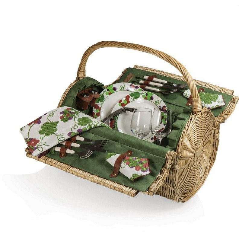 Picnic Time Handcrafted Barrel Picnic Basket - Green  223-25-515 , Home & Garden > Kitchen & Dining > Food & Beverage Carriers > Picnic Baskets - Picnic Time, Ruby Skies At Night