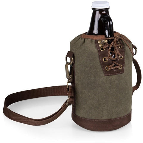 Picnic Time Growler Tote with 64 oz. Glass Growler 610-85