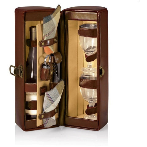 Picnic Time Harmony Wine Tote Case Burgundy 664-65-18