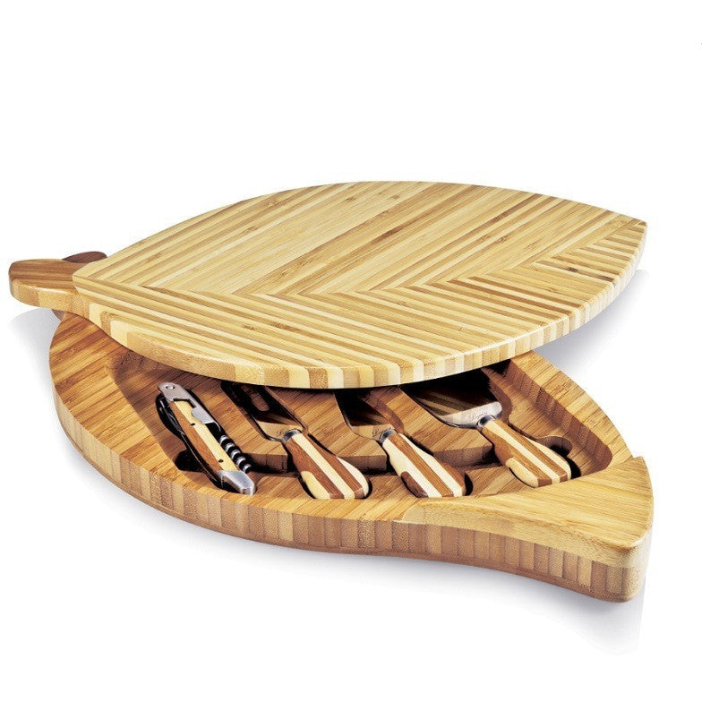Picnic Time Leaf Cheese Board 830-00-505