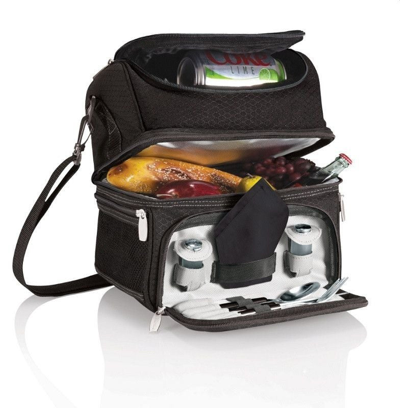 Pranzo Personal Cooler Lunch Tote by Picnic Time 512-80 , Home & Garden > Kitchen & Dining > Food & Beverage Carriers > Picnic Baskets - Picnic Time, Ruby Skies At Night - 1