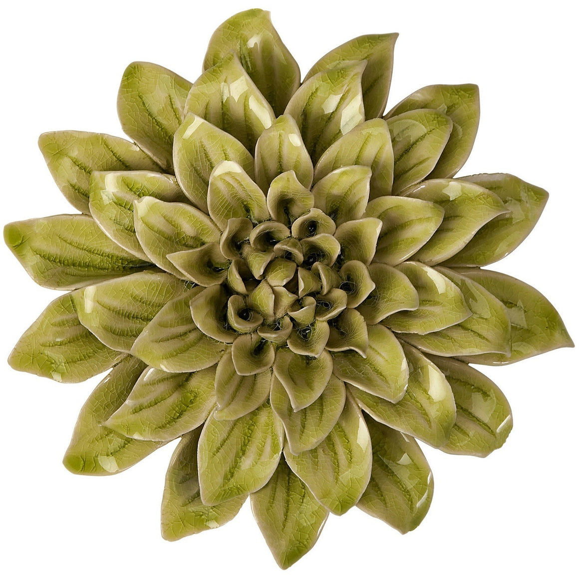 Benzara Isabella Small Ceramic Wall Decor Flower IMX-64196