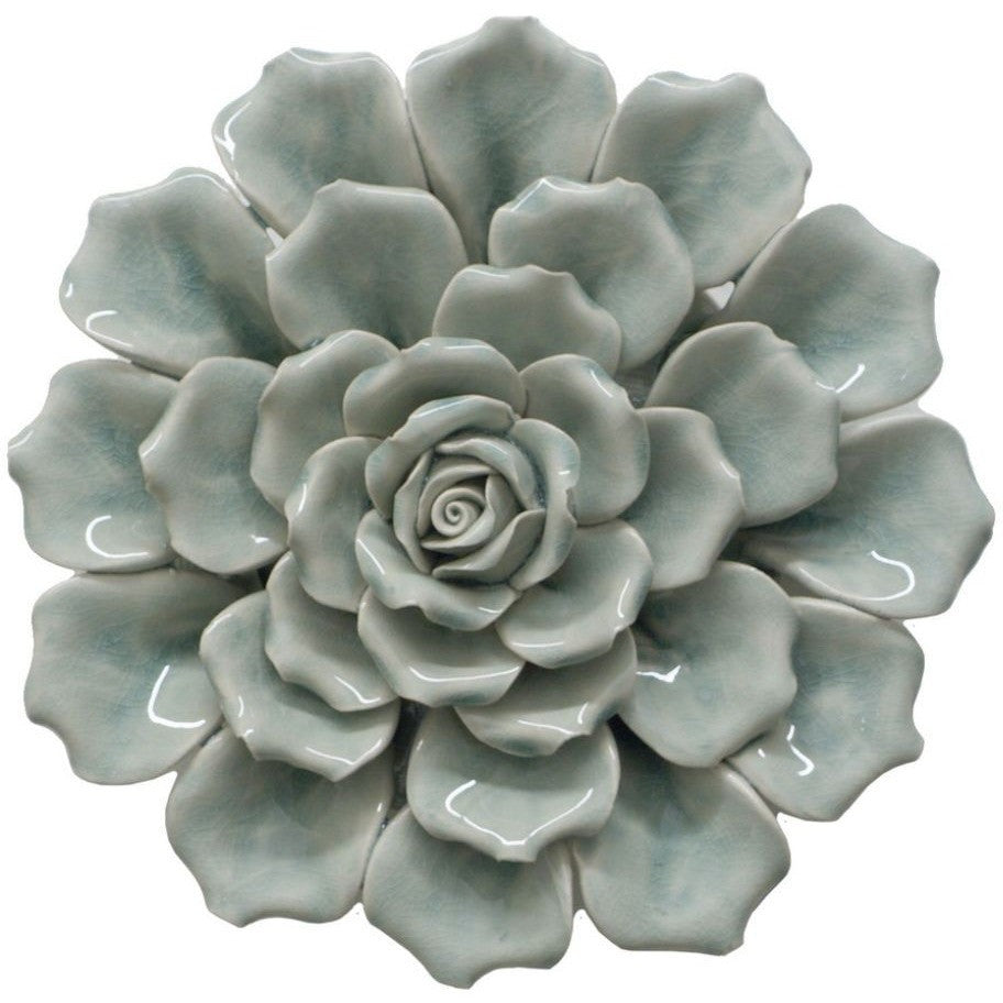 Benzara 64881 Porcelain And Ceramic Flower Wall Decoration