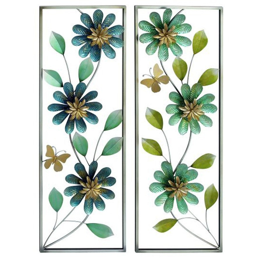Benzara 23482 Set of 2 Enthralling Metal Wall Decor